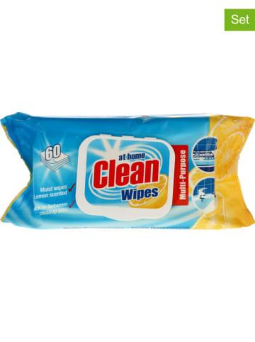 """At Home Wash 6er-Set: Reinigungstücher """"Clean wipes - Citrus"""", 6x 60 Stück"""