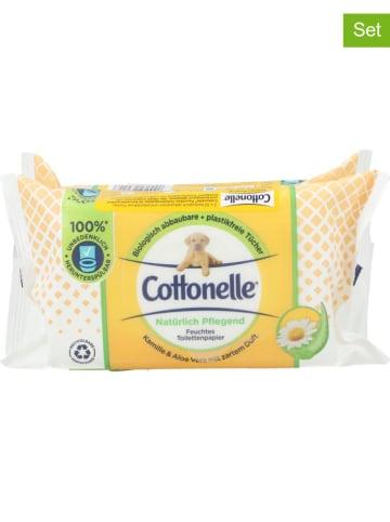 """Cottonelle 6er-Set: Feuchtes Toilettenpapier """"Kamille & Aloe Vera"""", 6x 84 Stück"""