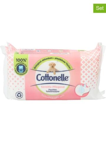 """Cottonelle 6er-Set: Feuchtes Toilettenpapier """"Sensitiv"""", 6x 84 Stück"""