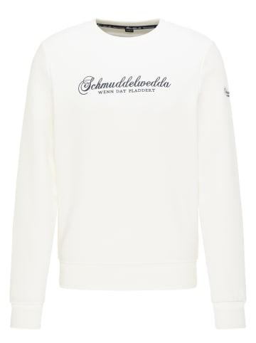 Schmuddelwedda Bluza w kolorze białym