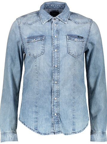 Pepe Jeans Spijkerblouse - regular fit - lichtblauw