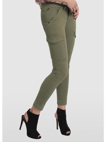 """Lois Dżinsy cargo """"Bloog"""" - Skinny fit - w kolorze zielonym"""