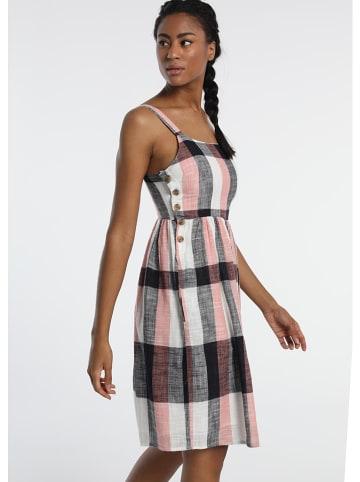 """Lois Sukienka """"Hollis"""" w kolorze czarno-jasnoróżowo-białym"""