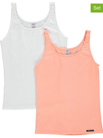 Skiny Podkoszulki (2 szt.) w kolorze kremowym i brzoskwiniowym