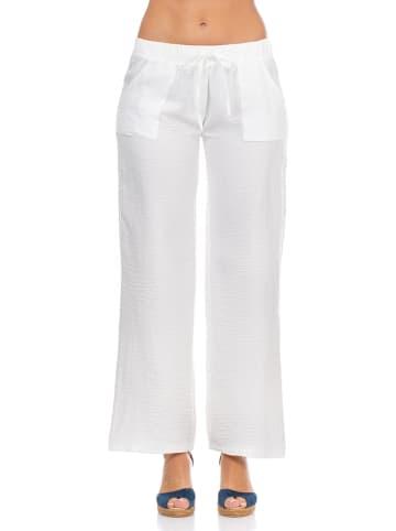 Peace & Love Spodnie w kolorze białym