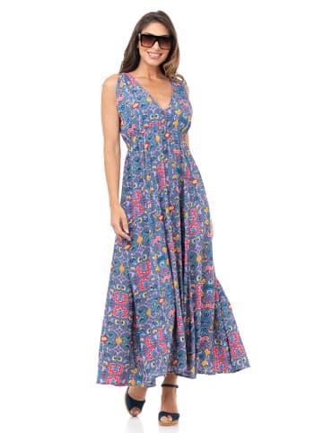 Peace & Love Sukienka w kolorze niebieskim ze wzorem