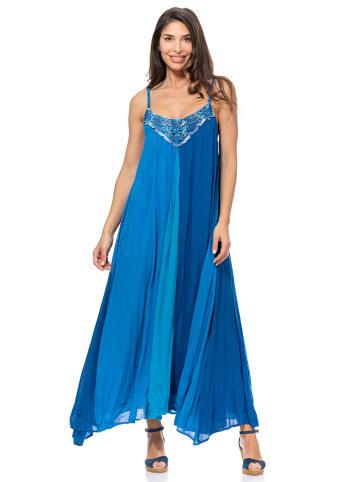 Peace & Love Sukienka w kolorze niebieskim