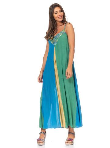 Peace & Love Sukienka w kolorze niebiesko-zielonym