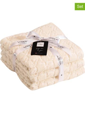"Vossen 3-delige set: handdoeken ""French"" crème"