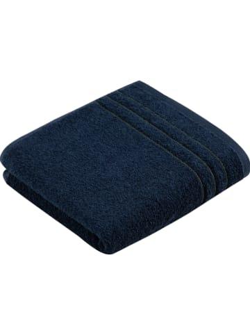 """Vossen Handdoek """"Vision"""" donkerblauw"""