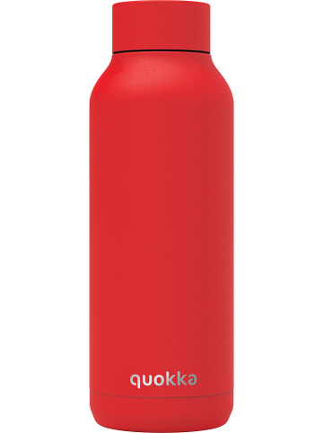 "Quokka Edelstahl-Trinkflasche ""Solid"" in Rot - 510 ml"