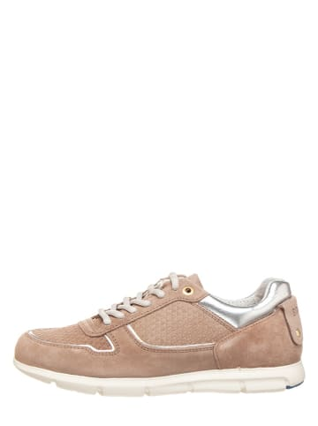 "Birkenstock Skórzane sneakersy ""Cincinnati"" w kolorze jasnobrązowo-szarym"