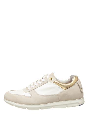 """Birkenstock Skórzane sneakersy """"Cincinnati"""" kolorze kremowym"""