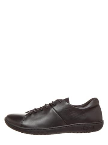 "Birkenstock Skórzane sneakersy ""Albany"" w kolorze czarnym"