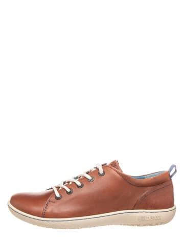 """Birkenstock Skórzane sneakersy """"Islay"""" w kolorze jasnobrązowym"""