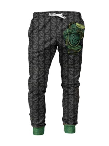 Mr GUGU & MISS GO Spodnie w kolorze zielono-czarnym ze wzorem