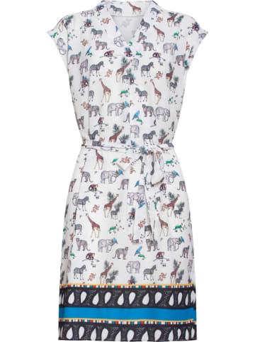 Smashed Lemon Sukienka w kolorze białym ze wzorem
