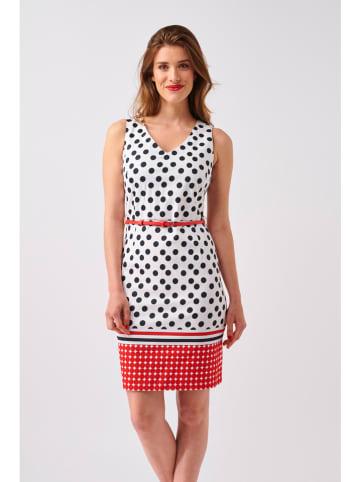 Smashed Lemon Sukienka w kolorze biało-czerwono-granatowym