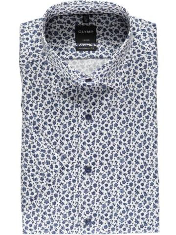 """OLYMP Koszula """"Luxor"""" - Modern fit - w kolorze niebiesko-białym"""
