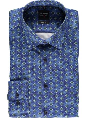 """OLYMP Koszula """"Level 5"""" - Body fit - w kolorze niebiesko-zielonym"""