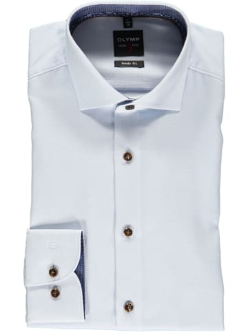 """OLYMP Koszula """"Level 5"""" - Body fit - w kolorze błękitnym"""