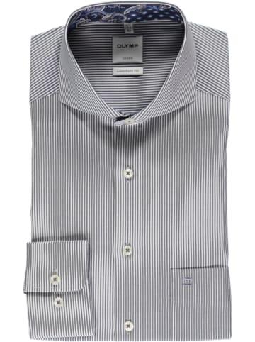 """OLYMP Koszula """"Luxor"""" - Comfort fit - w kolorze granatowo-białym"""