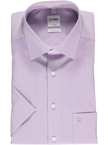 """OLYMP Koszula """"Luxor"""" - Comfort fit - w kolorze szaroróżowym"""