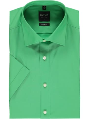 """OLYMP Koszula """"Level 5"""" - Body fit - w kolorze zielonym"""
