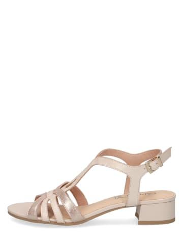 """Caprice Skórzane sandały """"Carla"""" w kolorze beżowym"""