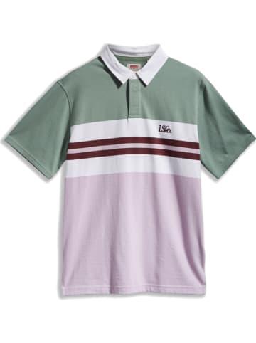 Levi´s Koszulka polo w kolorze zielono-fioletowym