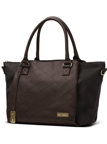 "ABC-Design Luiertas ""Royal"" bruin/zwart - (B)47,5 x (H)31 x (D)20 cm"