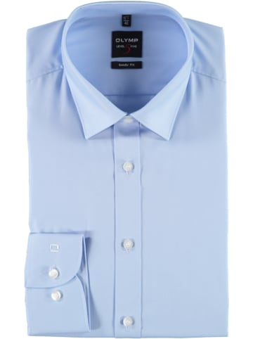 """OLYMP Koszula """"Level 5 New York"""" - Body fit - w kolorze błękitnym"""