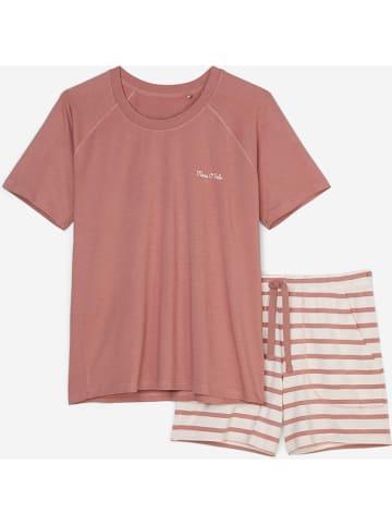 Marc O´Polo Bodywear Pyjama in Koralle/ Creme