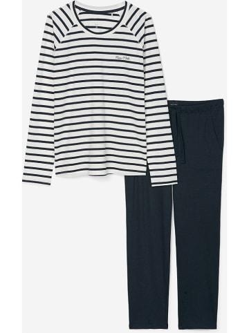 Marc O´Polo Bodywear Pyjama donkerblauw/wit