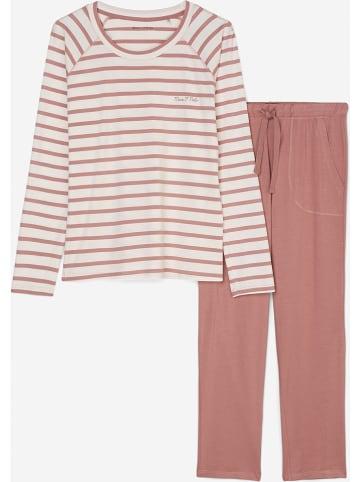 Marc O´Polo Bodywear Pyjama koraalrood/crème