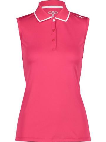 CMP Koszulka funkcyjna polo w kolorze różowym