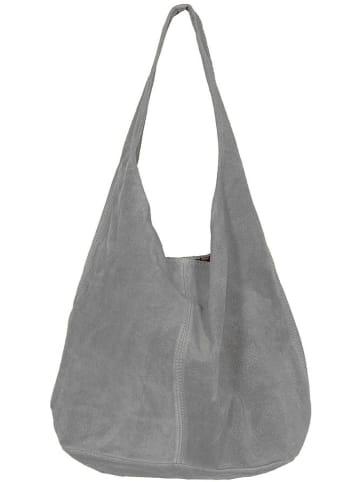 """Zwillingsherz Skórzany shopper bag """"Lena"""" w kolorze szarym - 32 x 42,5 x 4 cm"""
