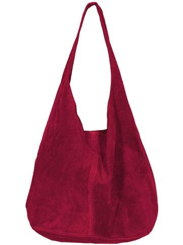 Zwillingsherz Skórzany shopper bag w kolorze różowym - 32 x 42,5 x 4 cm