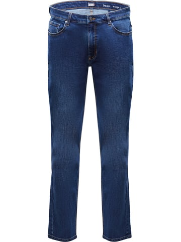 """MARINEPOOL Spijkerbroek """"Dean"""" - straight fit"""" - blauw"""