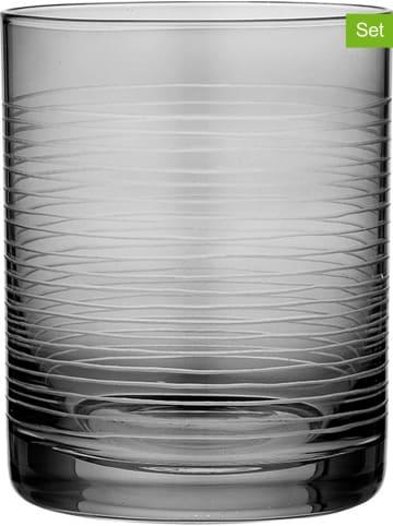 """Ladelle 4-delige set: glazen """"Linear"""" grijs - 350 ml"""