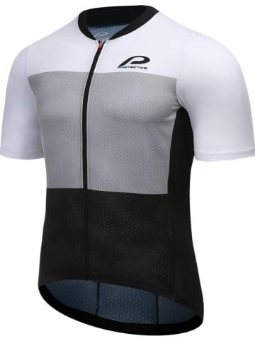 """Protective Koszulka kolarska """"P-Transform"""" w kolorze czarno-szaro-białym"""