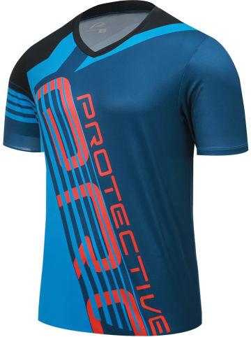 """Protective Koszulka kolarska """"P-Empire"""" w kolorze niebieskim"""