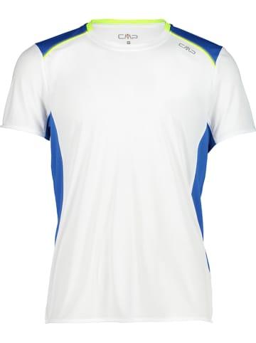 CMP Functioneel shirt wit/blauw