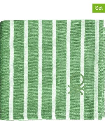 Benetton 4-delige set: theedoeken groen - (L)70 x (B)50 cm