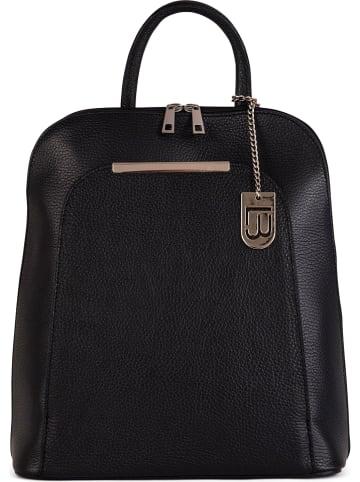 """Lucca Baldi Skórzany plecak """"Cervia"""" w kolorze czarnym - 35 x 33 x 12 cm"""