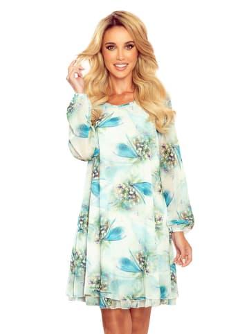 Numoco Sukienka w kolorze niebiesko-ecru