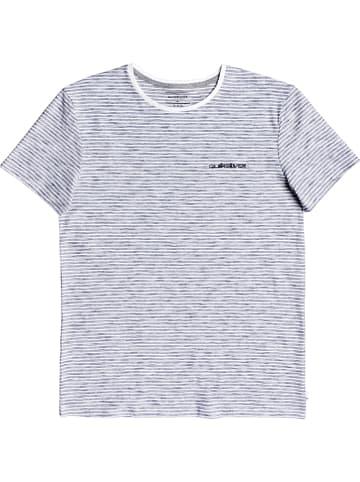 """Quiksilver Koszulka """"Kentin"""" w kolorze granatowo-białym"""