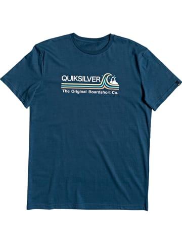 """Quiksilver Koszulka """"Stone Cold Classic"""" w kolorze morskim"""