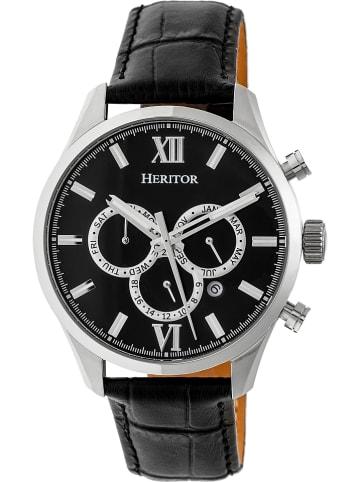 """Heritor Automatisch horloge """"Benedict"""" zwart/zilverkleurig"""