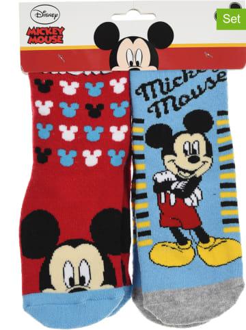 """Disney Mickey Mouse Skarpety (2 pary) """"Mickey"""" w kolorze czerwono-błękitnym"""
